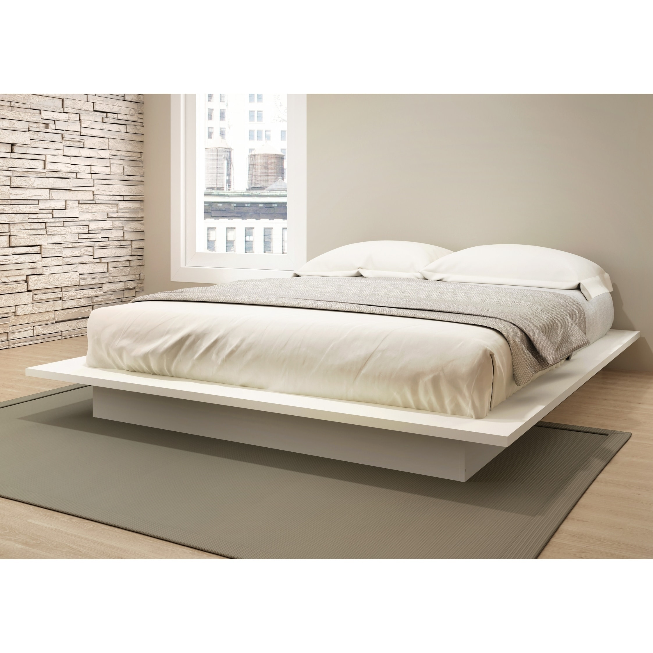 Picture of: Stellar Home Furniture Queen Platform Bed In Off White Overstock 21862235