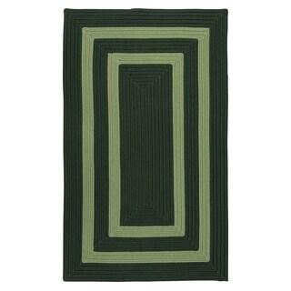 Clemson Double-Border Field Green Braided Area Rug - 12' x 15'