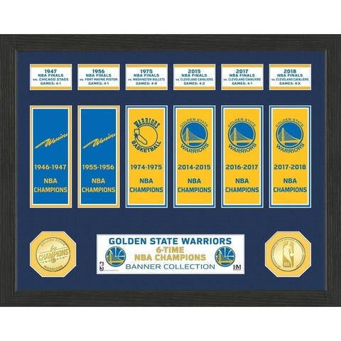 Golden State Warriors 6-Time NBA Champions Banner Collection - Multi-color