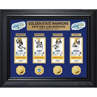 Golden State Warriors 2018 NBA Finals Champions Deluxe Gold Coin & Ticket Collection - Multi-color