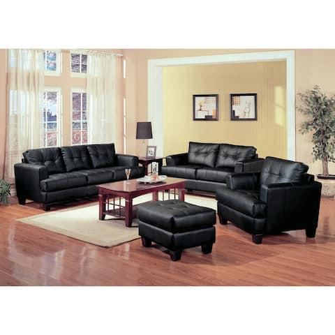 Samuel Transitional 3-piece Living Room Set - N/A