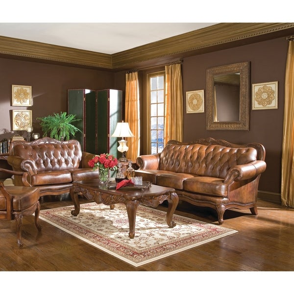 Shop victoria traditional tri tone 3 piece living room set - Victorian living room set for sale ...