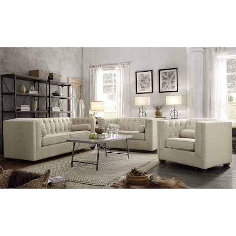 Cairns Transitional 3-piece Living Room Set