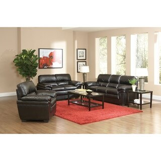Fenmore Transitional Black 3-piece Living Room Set