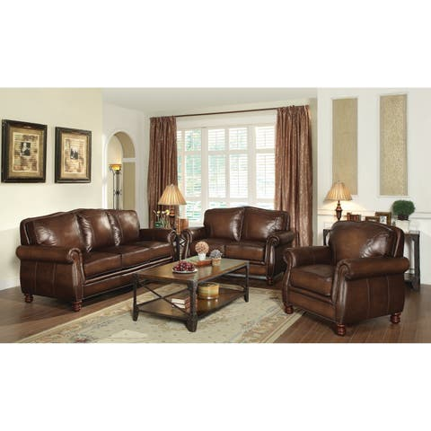 Montbrook Traditional Brown 2-piece Living Room Set