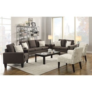 Bachman Transitional 3-piece Living Room Set (2 options available)
