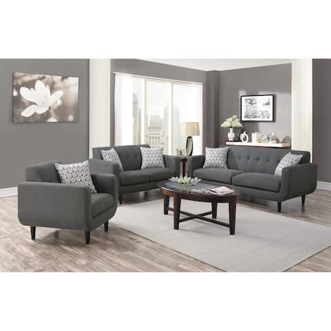 Stansall Mid-century Modern 3-piece Living Room Set