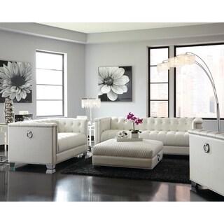 Genial Chaviano Contemporary White 3 Piece Living Room Set