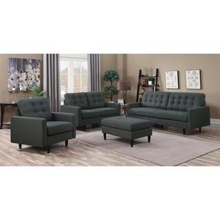 Kesson Mid-century Modern 3-piece Living Room Set