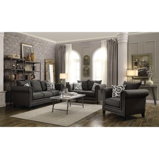 Emerson Charcoal 3-piece Living Room Set