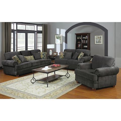 Colton Grey 3-piece Living Room Set
