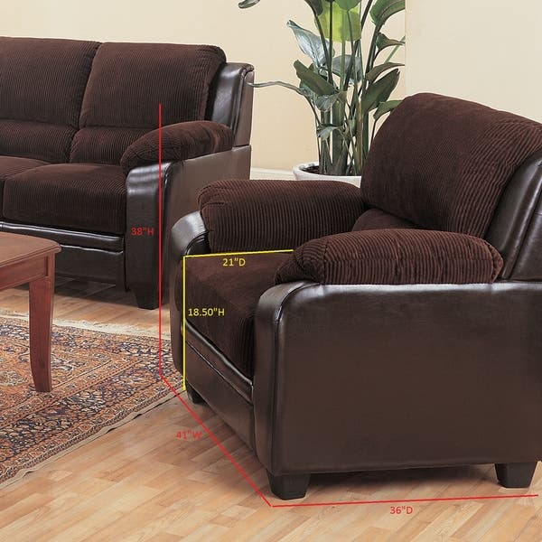 Monika Transitional Chocolate 3 Piece Living Room Set N A Overstock 21862466