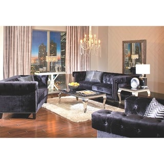 Reventlow Formal Black 2-piece Living Room Set
