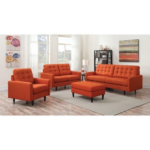 Kesson Mid-century Modern 2-piece Living Room Set