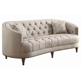 Avonlea Beige Sofa and Loveseat Living Room Set