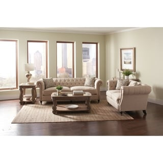Trivellato Traditional Oatmeal 2-piece Living Room Set