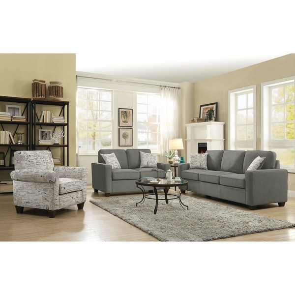 Overstock Living Room Sets: Shop Bardem Grey 3-piece Living Room Set