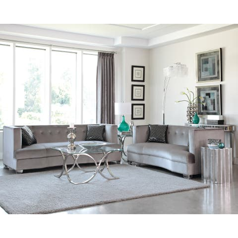 Caldwell Silver 2-piece Living Room Set