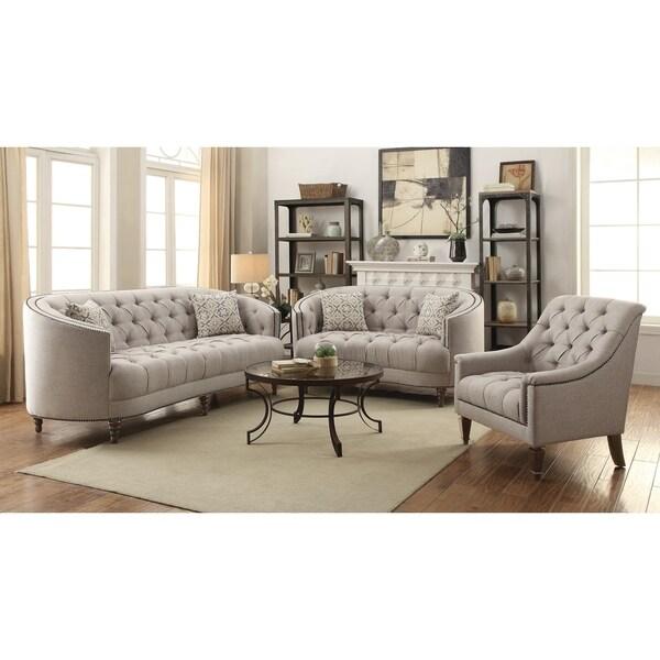 Avonlea Grey 3-piece Living Room Set