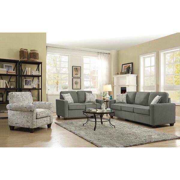 Shop Bardem Grey 2 Piece Living Room Set Free Shipping