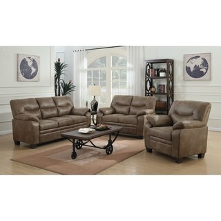 Meagan Casual Brown 3-piece Living Room Set