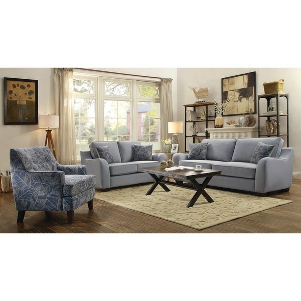 Shop Astaire Casual Grey 3-piece Living Room Set - Free ...