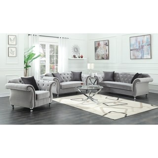 Frostine Grey 3-piece Living Room Set - N/A