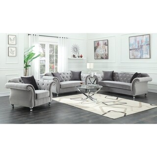 Shop Furniture Of America Augusta Victorian Grey 2 Piece
