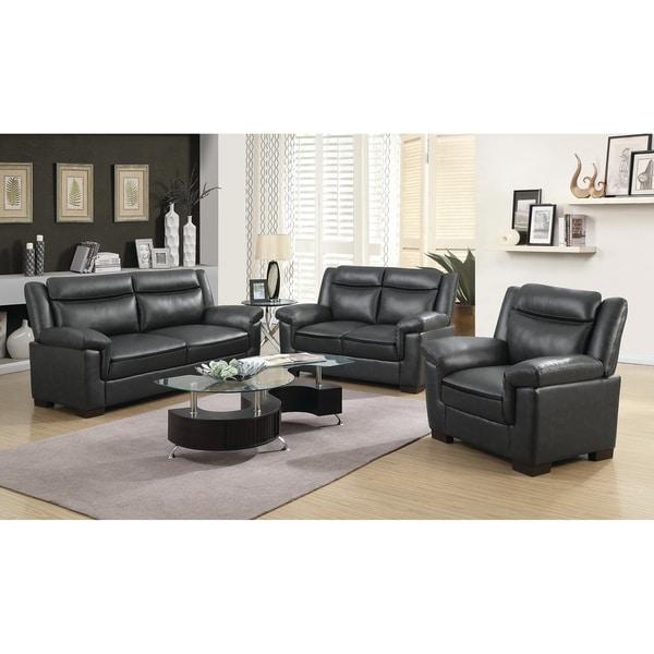 Shop Arabella 3-piece Faux Leather Living Room Set