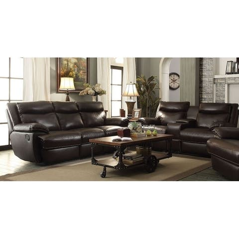 MacPherson Brown 2-piece Power Motion Living Room Set