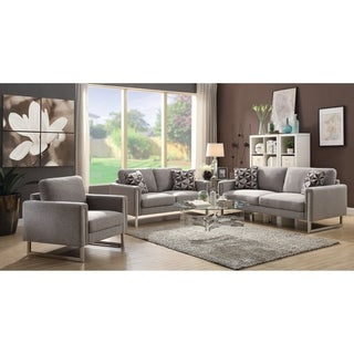 Stellan Contemporary Grey 3-piece Living Room Set - N/A