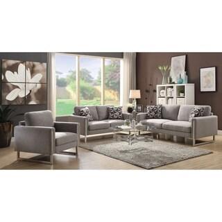 Stellan Contemporary Grey 3-piece Living Room Set