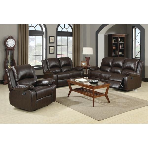 Shop Boston Brown 3-piece Reclining Living Room Set