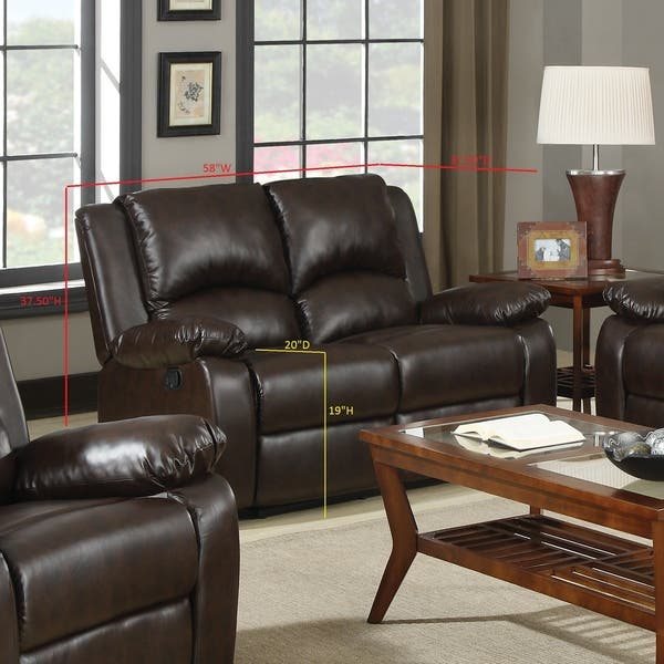 Boston Brown 3 Piece Reclining Living Room Set Overstock 21862546