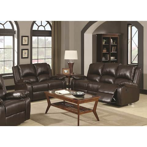 Boston Brown 2-piece Reclining Living Room Set