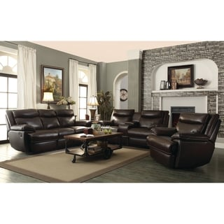MacPherson Brown 3-piece Motion Living Room Set