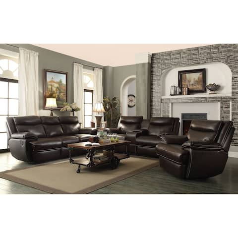 MacPherson Brown 3-piece Power Motion Living Room Set
