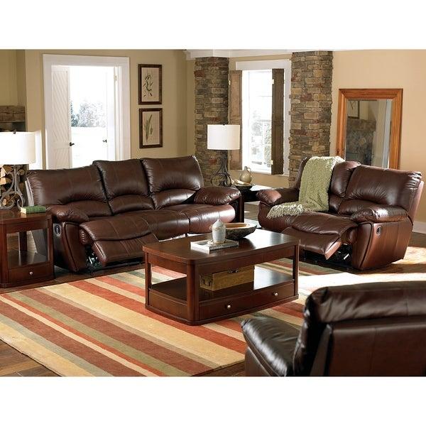 Clifford Dark Brown 2-piece Motion Power Reclining Living Room Set - N/A