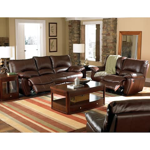 Clifford Dark Brown 2-piece Motion Power Reclining Living Room Set