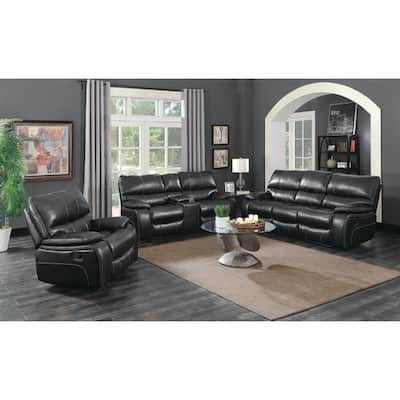 Buy Black, Leather Living Room Furniture Sets Online at ...