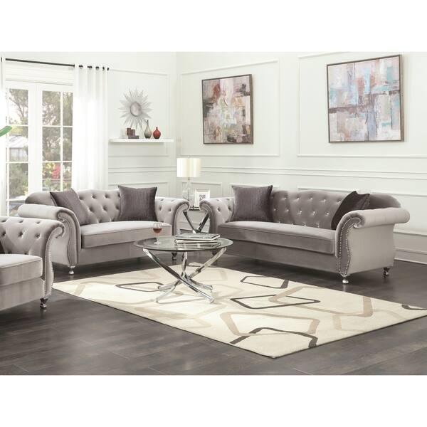 Shop Frostine Grey 2-piece Living Room Set ( Sofa and ...