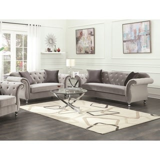 Frostine Grey 2-piece Living Room Set ( Sofa and Loveseat)
