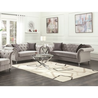 Frostine Grey 2-piece Living Room Set ( Sofa and Loveseat) - N/A