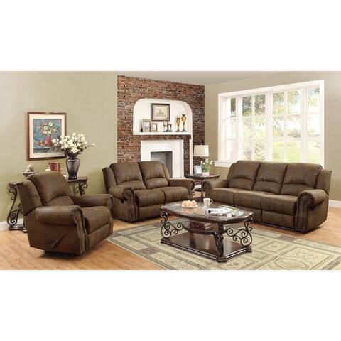 Sir Rawlinson Brown Sofa and Loveseat Living Room Set