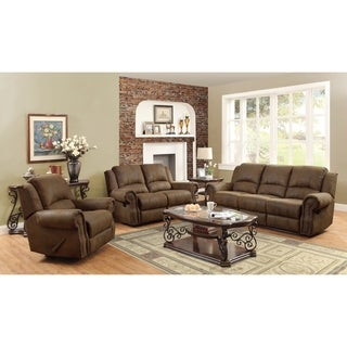 Sir Rawlinson Brown Sofa and Loveseat Living Room Set - N/A