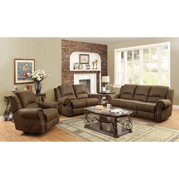 Sir Rawlinson Brown Sofa and Loveseat Living Room Set