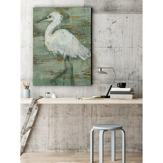 Textured Heron I - Premium Gallery Wrapped Canvas