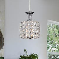 Timoteo Chrome 1-Light Pendant with Crystal Shade