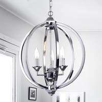 Dermid Chrome 3-Light Round Pendant