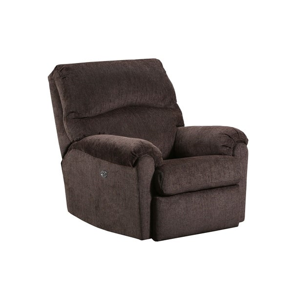 Shop Simmons Upholstery Elan Coffee Power Recliner Free